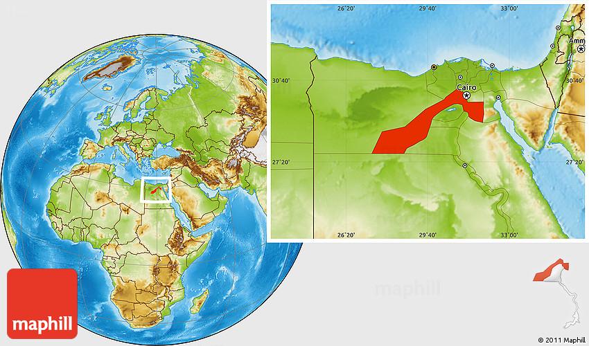 Physical Location Map of Al Jizah Giza