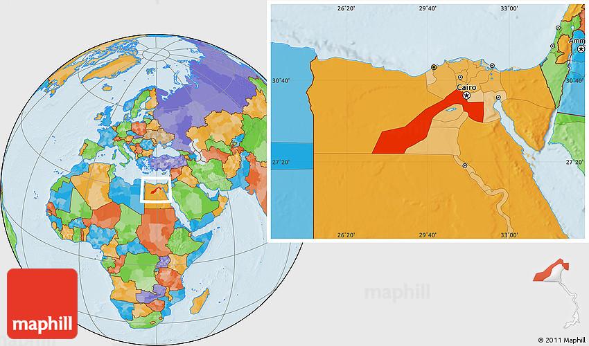 Political Location Map of Al Jizah Giza