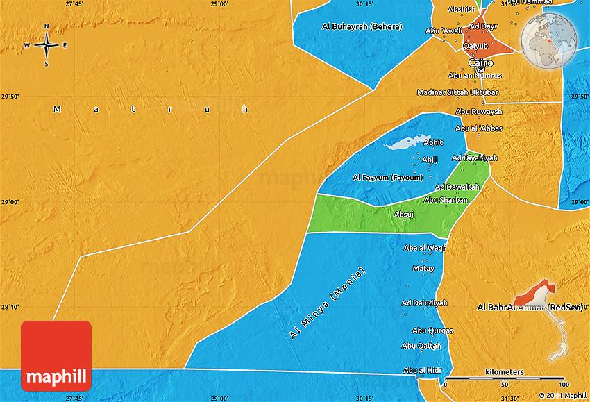 Political Map of Al Jizah Giza