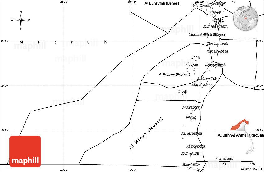 Blank Simple Map of Al Jizah Giza