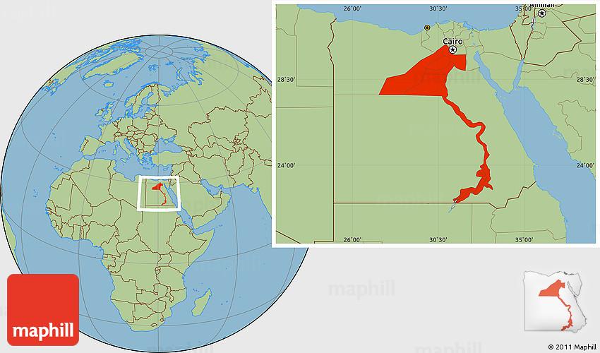 Savanna Style Location Map Of Upper Egypt - Map of upper egypt