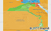 Political Shades Panoramic Map of Upper Egypt