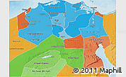 Political Shades 3D Map of Urban Governates