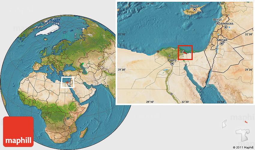 Satellite Location Map of Bur Said Port Said