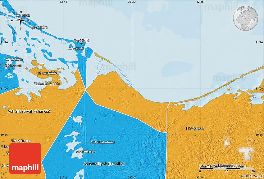 Political Map of Bur Said Port Said