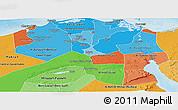 Political Shades Panoramic Map of Urban Governates