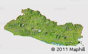 Satellite 3D Map of El Salvador, cropped outside