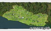 Satellite 3D Map of El Salvador, darken