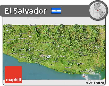 Free Satellite D Map Of El Salvador - Satellite image photo of el salvador