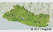 Satellite 3D Map of El Salvador, lighten