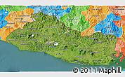 Satellite 3D Map of El Salvador, political outside, satellite sea