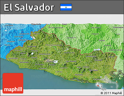 Free Satellite D Map Of El Salvador Political Shades Outside - Satellite image photo of el salvador