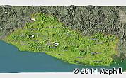 Satellite 3D Map of El Salvador, semi-desaturated, land only