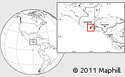 Blank Location Map of Ahuachapan