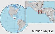 Gray Location Map of Ahuachapan