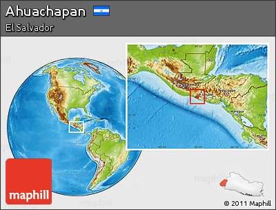 Physical Location Map of Ahuachapan