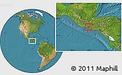 Satellite Location Map of Ahuachapan