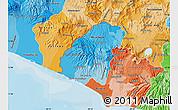Political Shades Map of Ahuachapan