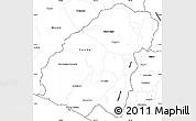 Blank Simple Map of Ahuachapan