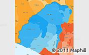 Political Shades Simple Map of Ahuachapan