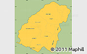 Savanna Style Simple Map of Ahuachapan, cropped outside