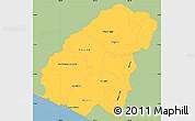 Savanna Style Simple Map of Ahuachapan, single color outside