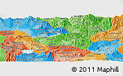 Political Shades Panoramic Map of Cabanas