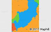 Political Simple Map of Sensuntepeque