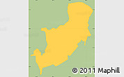 Savanna Style Simple Map of Sensuntepeque, single color outside