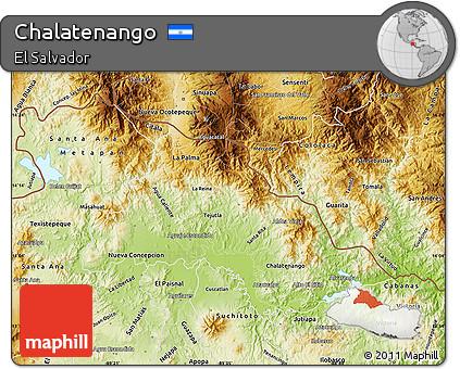 Physical Map of Chalatenango