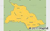 Savanna Style Simple Map of Chalatenango, cropped outside