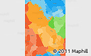 Political Shades Simple Map of Cuscatlan