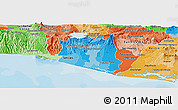 Political Shades Panoramic Map of La Paz