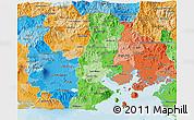 Political Shades 3D Map of La Union