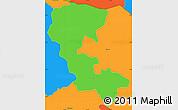 Political Simple Map of Nueva Esparta