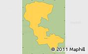Savanna Style Simple Map of Nueva Esparta, cropped outside