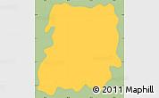 Savanna Style Simple Map of San Jose