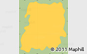 Savanna Style Simple Map of San Jose, single color outside