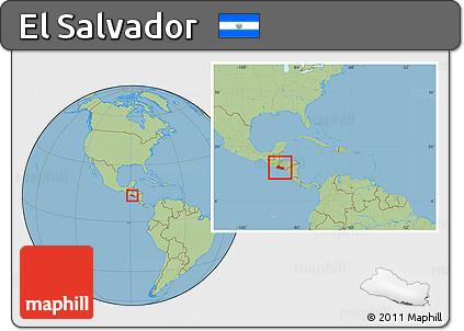Free savanna style location map of el salvador within the entire savanna style location map of el salvador within the entire continent gumiabroncs Gallery