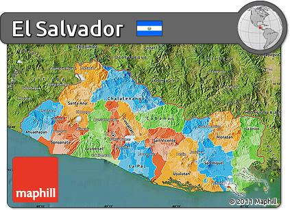Free Political Map Of El Salvador Satellite Outside - Political map el salvador