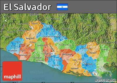 Free Political Map Of El Salvador Satellite Outside - Satellite image photo of el salvador