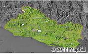 Satellite Map of El Salvador, desaturated