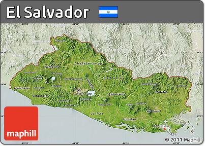 Free Satellite Map of El Salvador lighten