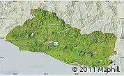 Satellite Map of El Salvador, lighten