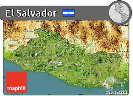 Free Satellite Map Of El Salvador Physical Outside Satellite Sea - Satellite image photo of el salvador