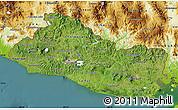 Satellite Map of El Salvador, physical outside, satellite sea