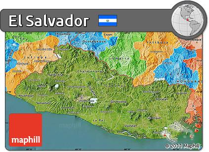 Free Satellite Map Of El Salvador Political Outside Satellite Sea - Satellite image photo of el salvador