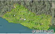 Satellite Map of El Salvador, semi-desaturated, land only