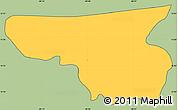 Savanna Style Simple Map of Arambala, cropped outside