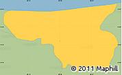 Savanna Style Simple Map of Arambala